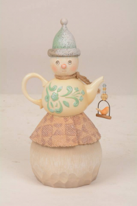Jim Shore River's End Teapot Snowman Figurine 4048061