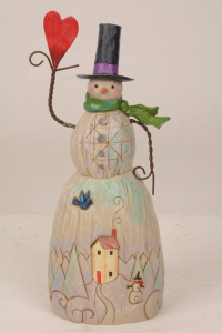 Jim Shore Folklore Snowman Holding A Heart 4058768