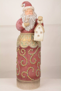 Jim Shore River's End  Santa with Birdhouse Statue 4054810