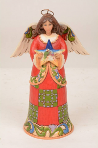 Jim Shore Heavenly First Noel Angel Holding Nativity 4030244