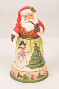 Jim Shore Decking Halls and Making Merry Rotatable Santa 4051545