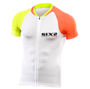 MAGLIA BICI MANICHE CORTE SIXS BIKE3 ULTRALIGHT ORANGE YELLOW