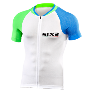 MAGLIA BICI MANICHE CORTE SIXS BIKE3 ULTRALIGHT GREEN LIGHT BLUE