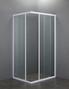 BOX DOCCIA RETTANGOLARE 80x100 in cristallo temperato 4 mm NEVADA