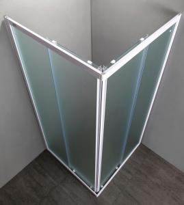 BOX DOCCIA QUADRATO 75x75 in cristallo temperato da mm 4