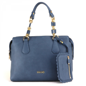Hand and shoulder bag Liu Jo DETROIT A18002 E0027 BLU POLVERE