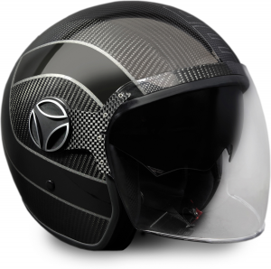 Casco jet Momo Design Arrow Carbon grigio