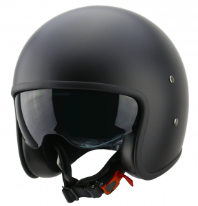 CARBURO URBAN CLASS Open Face Helmet - Matt Black