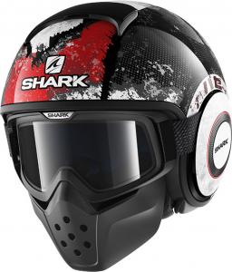 Casco jet Shark DRAK EVOK Nero Rosso Antracite