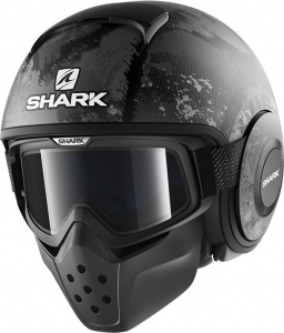 Casco jet Shark DRAK EVOK Mat Nero Opaco Antracite Antracite