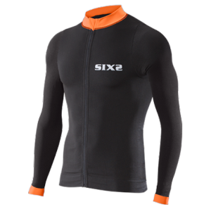 MAGLIA BICI MANICHE LUNGHE SIXS BIKE4 STRIPES BLACK ORANGE