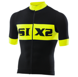 MAGLIA BICI MANICHE CORTE SIXS BIKE3 LUXURY BLACK YELLOW