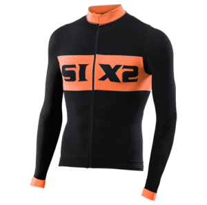 MAGLIA BICI MANICHE LUNGHE SIXS BIKE4 LUXURY BLACK ORANGE