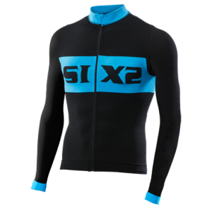 MAGLIA BICI MANICHE LUNGHE SIXS BIKE4 LUXURY BLACK LIGHT BLUE