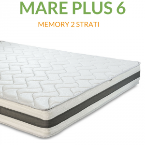Materasso Memory Ortopedico a onda 6cm H24 | Mare Plus 6 |Prezzi a partire da