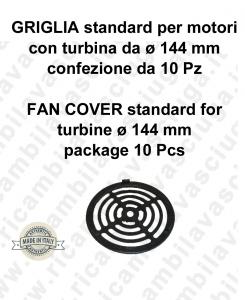 Lüfterabdeckung Standard für motor mit turbine von ø 144 mm Packung 10 Stück