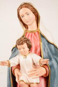 Statua Madonna con bambino in resina PA909 h. 80