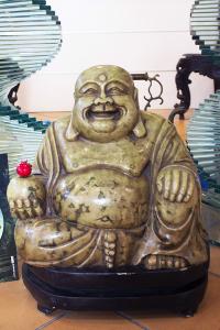 Statua di Budda in Giada Verde