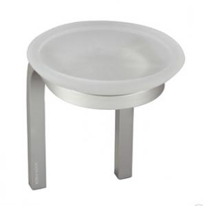 Porta sapone in vetro acidato per il bagno serie Stick Koh i noor