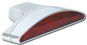 Arch LED Taillight and Bracket, polished