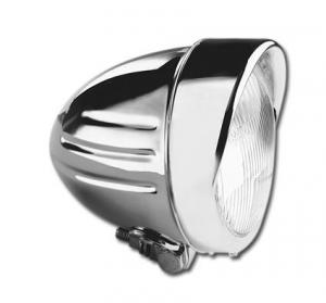 4 1/2 Inch Headlight with Ribbs + Visor