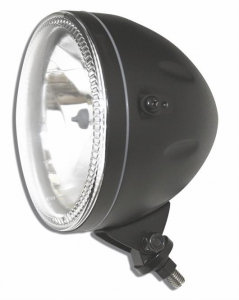 5 3/4 Headlight SKYLINE, LED front position light ring, black, H4, 12V 60/55 W, bottom mount