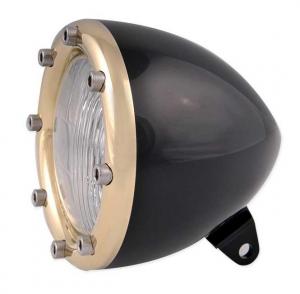 Headlight, Black Anodized/Brass