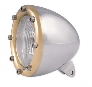 Headlight, Polished/Brass