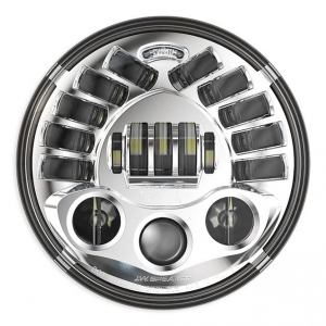 JW Speaker 8790A, LED Adaptive 7 Headlight insert, Chrome