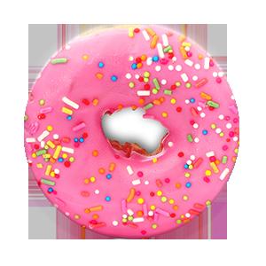 PopSocket con supporto per auto - Ciambella rosa