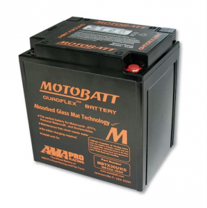Motobatt Battery MBTX30UHD, Black Housing, 4-Ports