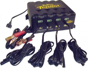 4-Bank International Charger- 12V@1.25A, EU Plug