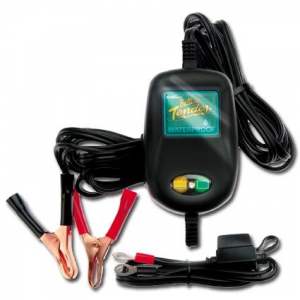 Automatic Battery Charger 800 - 12V@800mA, Waterproof, UK Plug includes Alligator Clips and Ring Terminals
