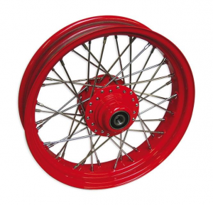 40 SPOKE 16X3.50  DD RED 3/4