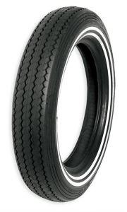 Shinko, Classic, Front/Rear Tire MT90-16 74H E-240DW (TubeType) Kevlar Belted Double White Line