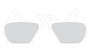 Brake Pad OEM Caliper Front FLT /Rear XL, Sinter Grip