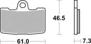 Brake Pad OEM Caliper Front Buell, Organic