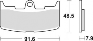 Brake Pad OEM Caliper Front, Organic