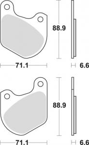 Brake Pad OEM Caliper Front/Rear, Organic