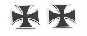 MALTESE CROSS BLACK AXLE CAP