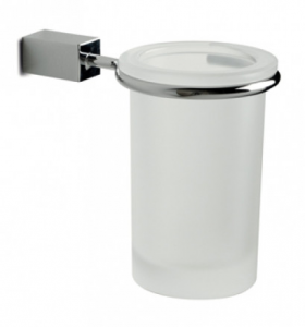 Bicchiere da parete per il bagno serie Cuir 3SC