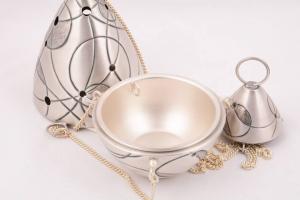 Turibolo in metallo argentato con navicella ELLECI365A