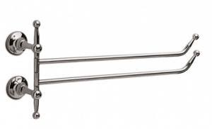 Porta salviette doppio a bandiera per il bagno serie Pastelli 3SC