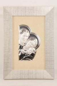 Quadro Sacra Famiglia in argento FAN6583-15SF