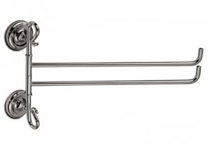 Porta salviette doppio per il bagno serie Giglio 3SC