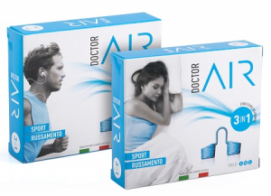 DILATATORE NASALE DOCTOR AIR SPORT RUSSAMENTO 3 IN 1