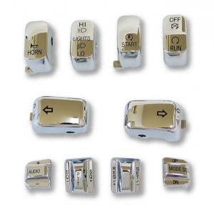 10 PC Switch Cap Set with Audio & Cruise Chrome