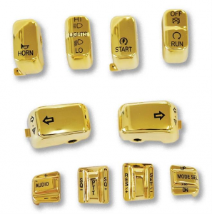 10 PC Switch Cap Set with Audio & Cruise Gold