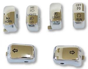6 PC Switch Cap Set Chrome