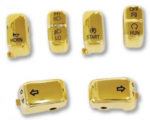 6 PC Switch Cap Set Gold